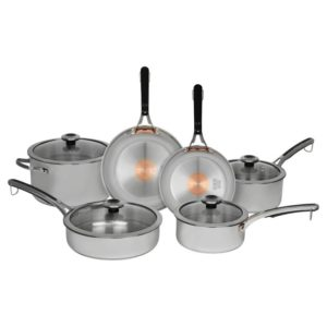 Revere 10-Piece Copper Core Confidence Stainless Steel Cookware Set