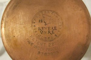 identify vintage revere ware