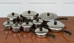 Vintage Revere Ware 1801 Stainless Steel