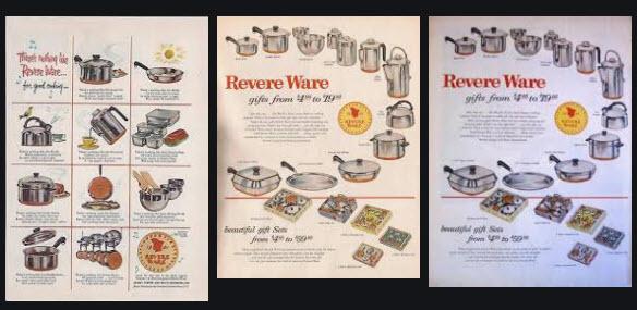 vintage revere ware ads