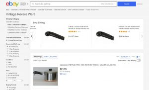 Revere Ware at eBay